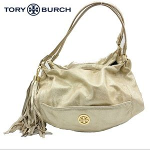 TORY BURCH Authentic Gold Leather Hobo Bag